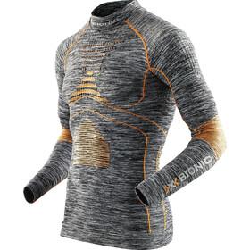 X-Bionic Accumulator Evo Melange Shirt LS Turtle Neck Herren grey melange/orange